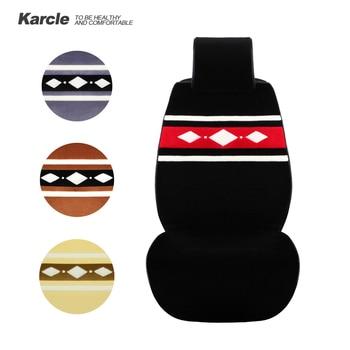 Karcle 1PC Universal Sheepskin fur Car Seat Covers Warm Wool Seat Protector Anti-skid Driver Cushion Durable Auto Accessorie