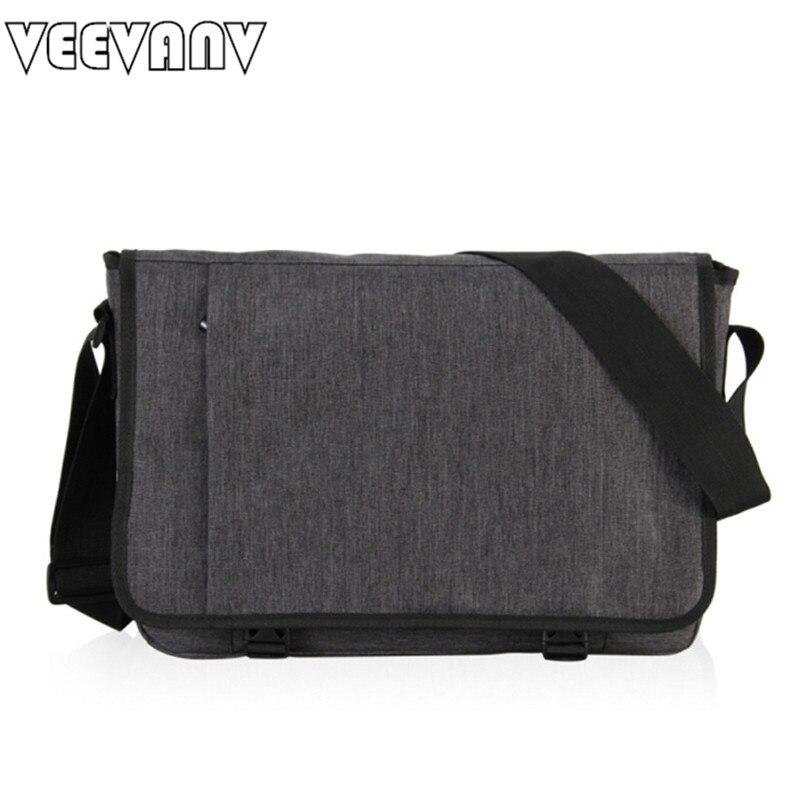 VEEVANV Designer Briefcase Men Messenger Bags Vintage Canvas Shoulder Bag Mens Buisness Bag Attache Laptop Case Office Briefcase