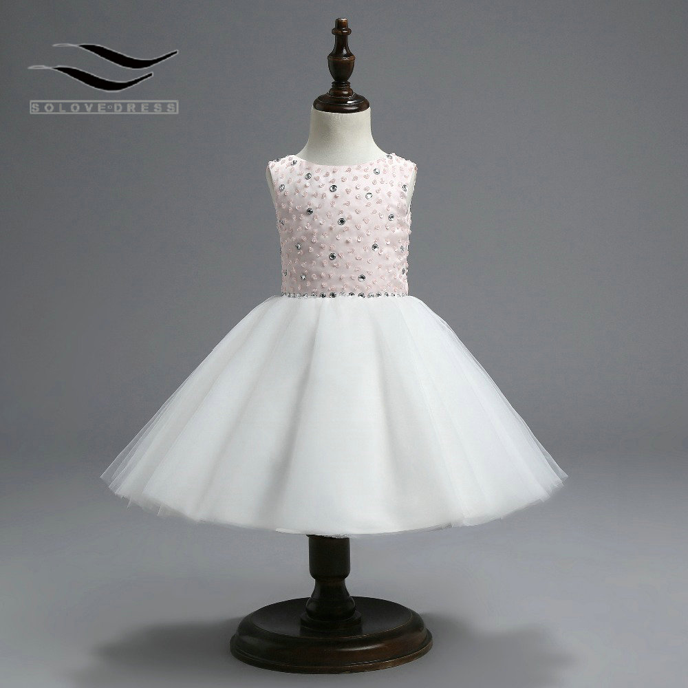 High Quailty Tea Length Crepe Lovely Flower Girl Dresses With