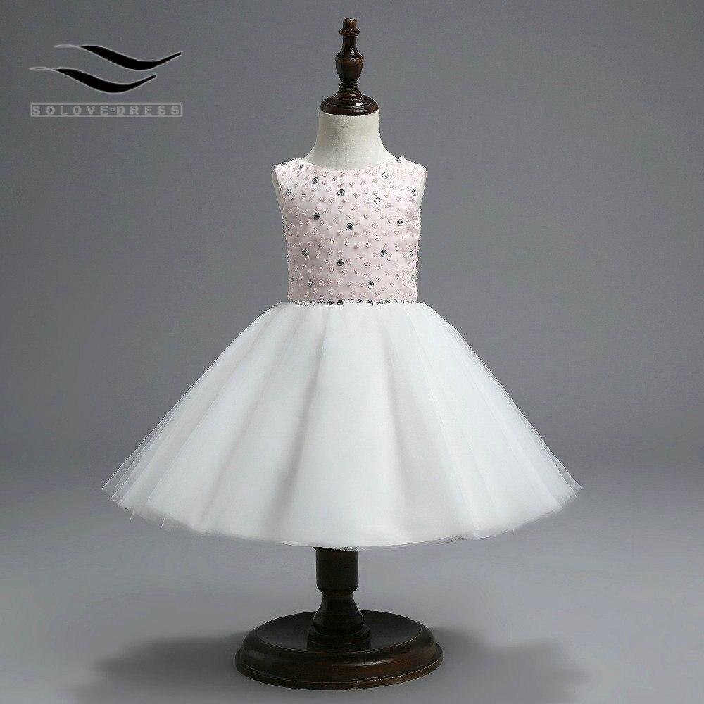 High quailty Tea-Length Crepe Lovely   Flower     girl     dresses   with Sequins for weddings Elegant floor length   Flower     dress   ( SL-F243 )