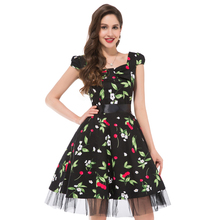 2016 Audrey Hepburn Vestidos Plus Size Women clothing Summer style Floral Print Retro Casual Party Robe ete 50s Vintage Dresses