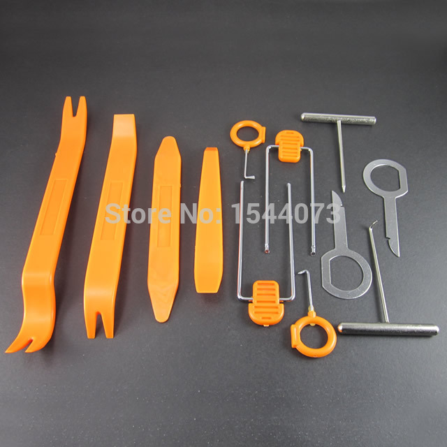 12pcs/Set Panel Audio Stereo GPS DVD Molding Removal Install Tools Kit For VW For BMW For Benz
