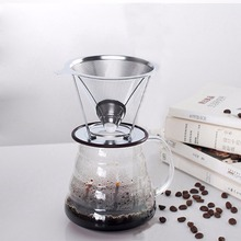 Stainless Steel Mesh Strainer Baskets Coffee Filter Reusable Cone Dripper