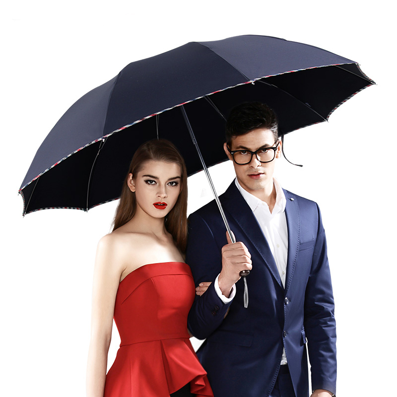 Super Big Business Umbrella Men Rain Woman Compact Windproof Paraguas 3 flod Big Top Quality Umbrella Outdoor Parapluie New