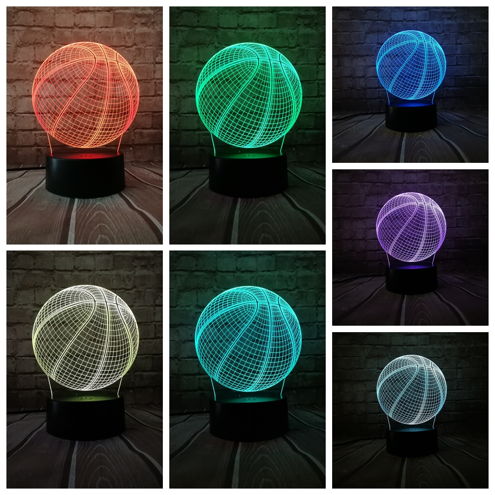 New 2019 Sporting Style Basketball 3D USB LED Lamp  Touch Remote RGB Battery Love Sport Boy Bedroom Decoration Gift Kids ToysNew 2019 Sporting Style Basketball 3D USB LED Lamp  Touch Remote RGB Battery Love Sport Boy Bedroom Decoration Gift Kids Toys