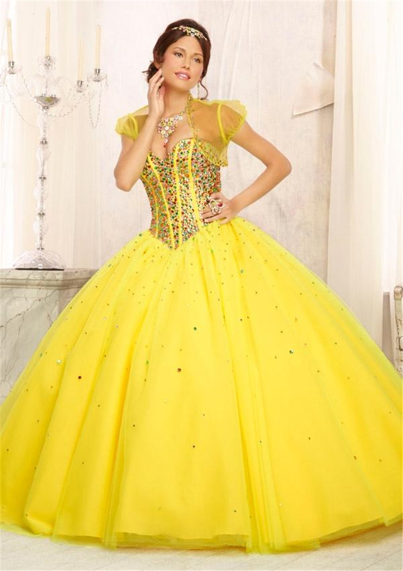 Online Buy Wholesale yellow quinceanera dresses from China yellow ...