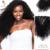 Afroamericano Clip En Extensiones de Cabello Humano Virginal Brasileño Del Pelo rizado Rizado Del Pelo Humano Ins Clip Cabeza Completa 200g 7 Unids