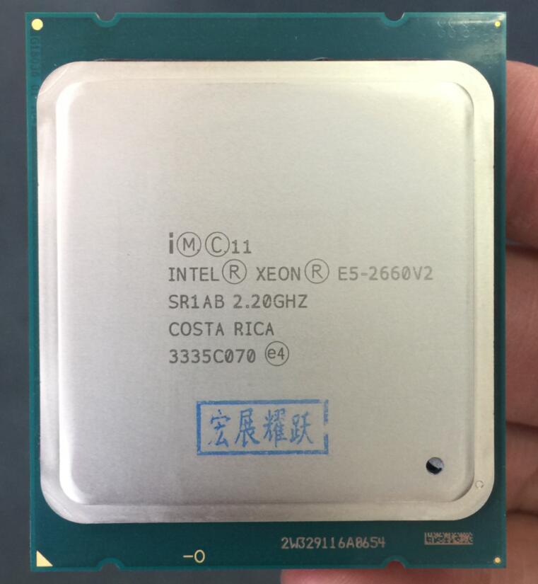 Processeur intel xeon E5-2660 V2 E5 2660 V2 LGA 2011 CPU Dix Noyaux processeur xeon E5 2660V2 SR1AB Serveur De Bureau CPU