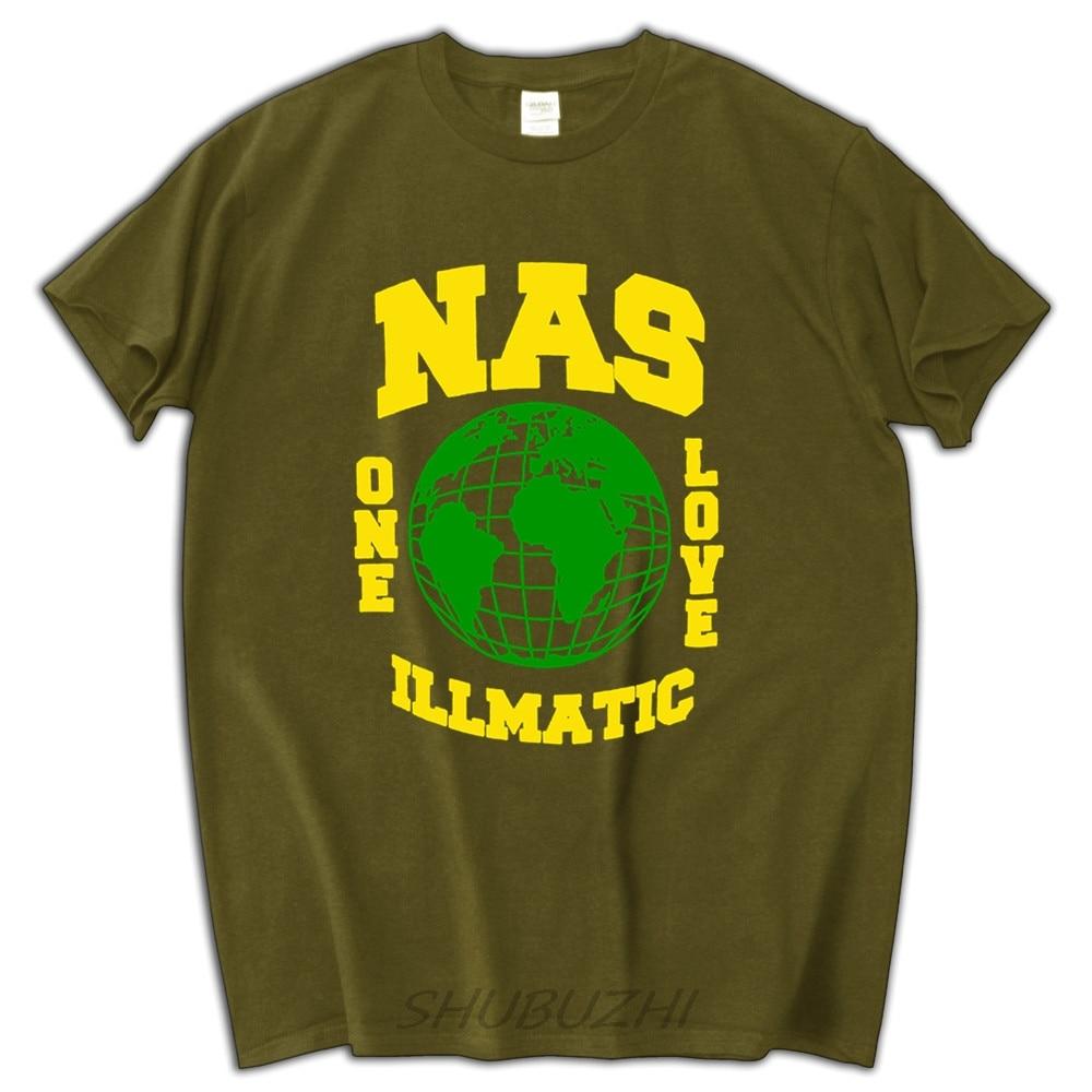 Nas un amour illmatic t-shirt hommes marque tops d'été de mode t-shirt
