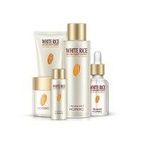 HOREC 5cps Riz Nourrissant Essence soins de la peau du visage Ensemble Cosmétiques Humidité Blanchir La Peau Huile crème de contrôle En Particulier pour les Femmes