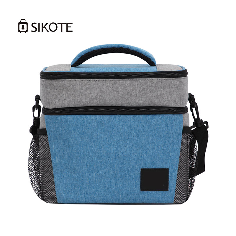 SIKOTE High Capacity Cloth Lunch Bags Two Layer Waterproof Picnic Bag For Women Men Tote Pack Food Keep Cooler Warm Storage Bags