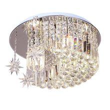 """1"""" звезды кристаллы подвесной потолочный светильник Нержавеющая сталь базы Гостиная кристалл элегантный Обеденная потолочный светильник"""