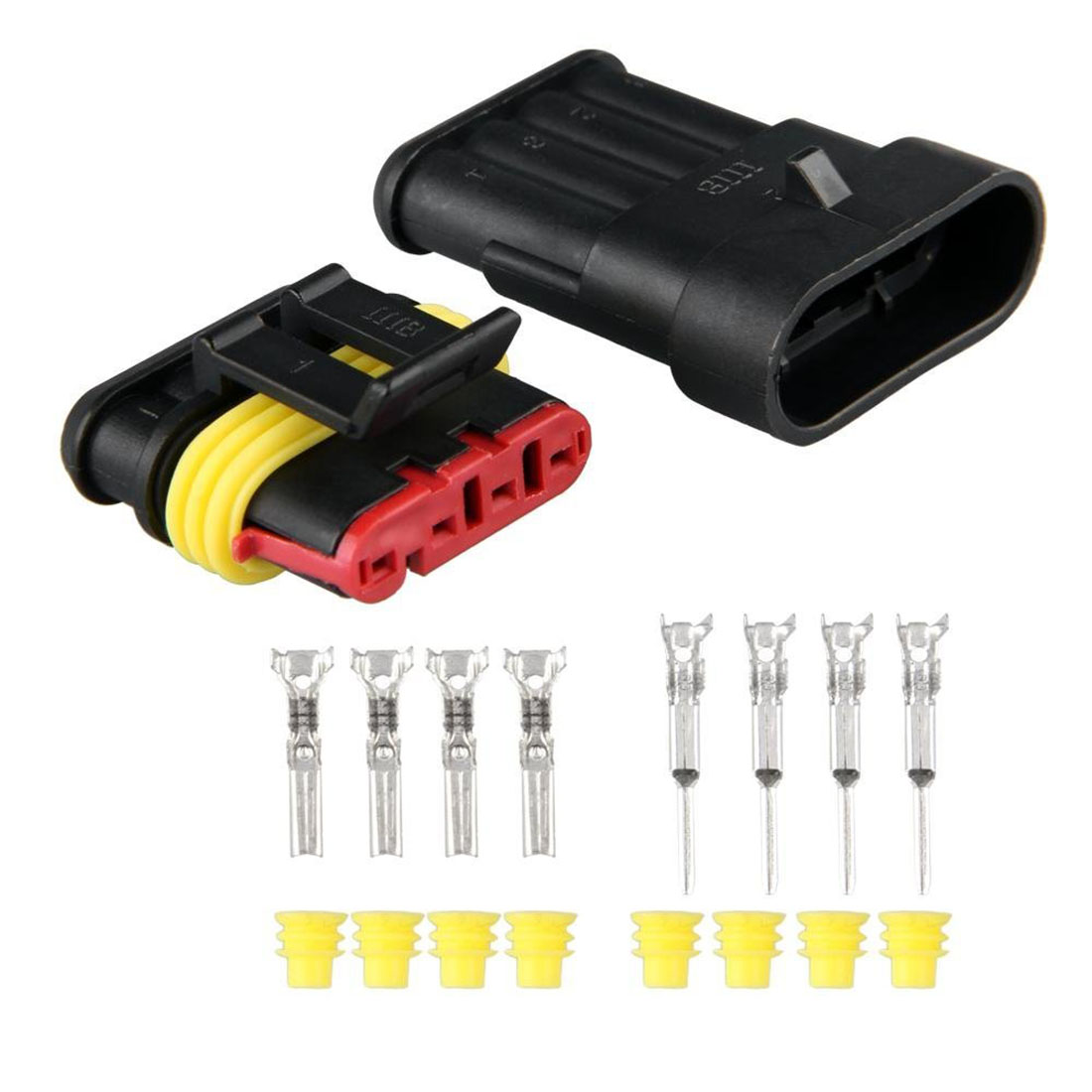 5pcs 1 Pin Way voiture étanche fil électrique CÂBLE AUTOMOTIVE CONNECTEUR