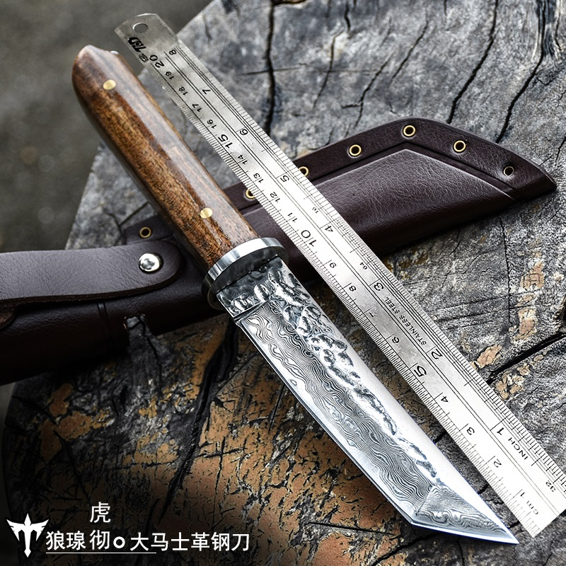 Voltron Damascus steel forged pattern steel knife, sharp with self-defense military, wild survival knifeVoltron Damascus steel forged pattern steel knife, sharp with self-defense military, wild survival knife