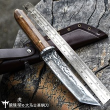 Voltron Damascus steel forged pattern steel knife, sharp with self-defense military, wild survival knife