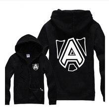 new fall and winter clothes Turret Hoodies Sweatshirts dota2 team sweatshirt cotton fleece zipper sweatshirt for men and women