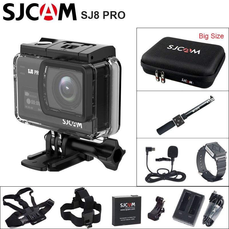 SJ8 PRO Action Camera 4 K WiFi SJCAM Esporte DV Ambarella H2 4 K/SJ 60FPS 30 m À Prova D' Água cam Esportes ao ar livre 2.33 IPS Tela Sensível Ao Toque