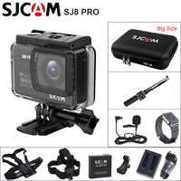 SJCAM SJ8 PRO 4 K WiFi della Macchina Fotografica di Azione di Sport di DV Ambarella H2 4 K/60FPS 30 m Impermeabile SJ outdoor 2.33 IPS Touch Screen Sport Cam