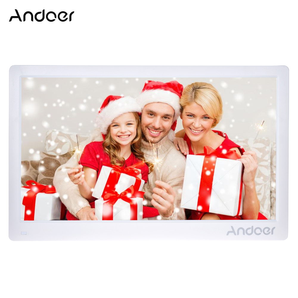 Andoer 17inch Digital Photo Frame Full View IPS Screen Support Play with Remote Control Christmas Birthday