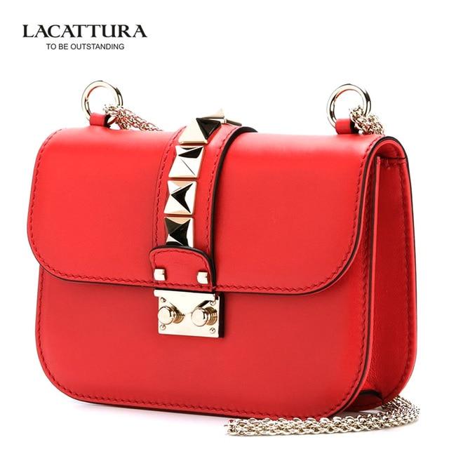 A1333 2017 женщины известные lacattura branks роскошные кожаные дамские сумки макияж сумки bolsa замок заклепки посыльного сумки для женщин