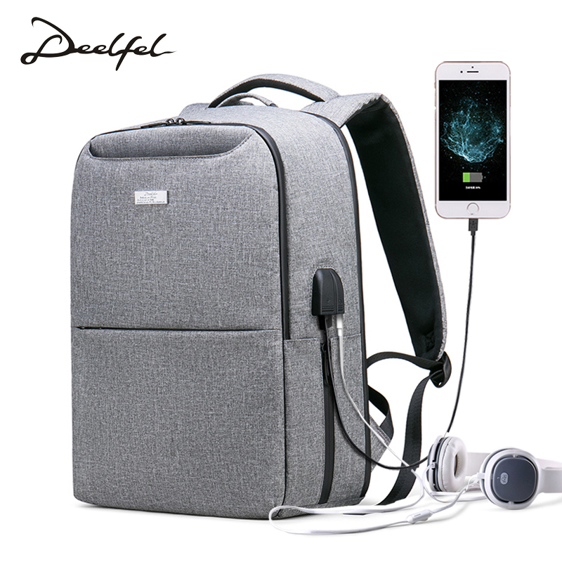 DEELFEL Brand Men Backpack USB Charge 15 inch Computer Backpacks Male Mochila Anti-theft Waterproof Travel Bags for Men 2018 DEELFEL Brand Men Backpack USB Charge 15 inch Computer Backpacks Male Mochila Anti-theft Waterproof Travel Bags for Men 2018