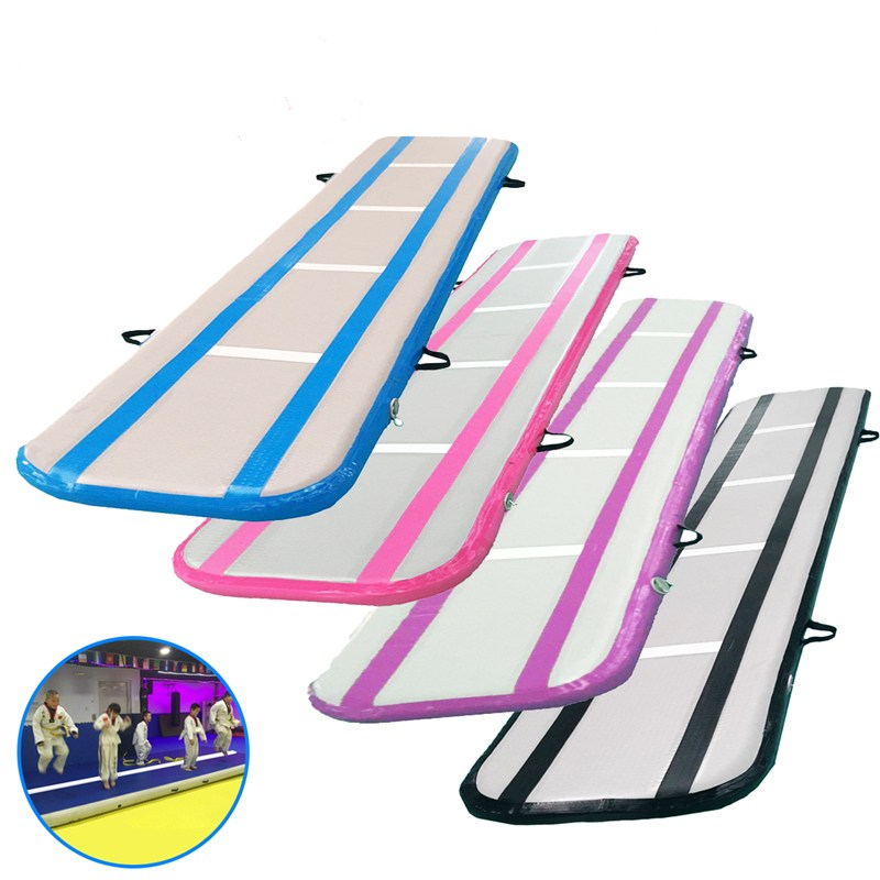 Inflatable Air Track Training Tumbling Floor Gymnastics Practice Pad GYM Mat Cheerleading Mat Trick Pad For Taekwondo Gym Sports professional boxing training human simulated head pad gym kicking mitt taekwondo fighting training equipment mma punching target