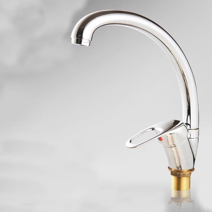 L15978 Luxury Deck Mounted Chrome Color Zinc Kitchen Sink Faucet