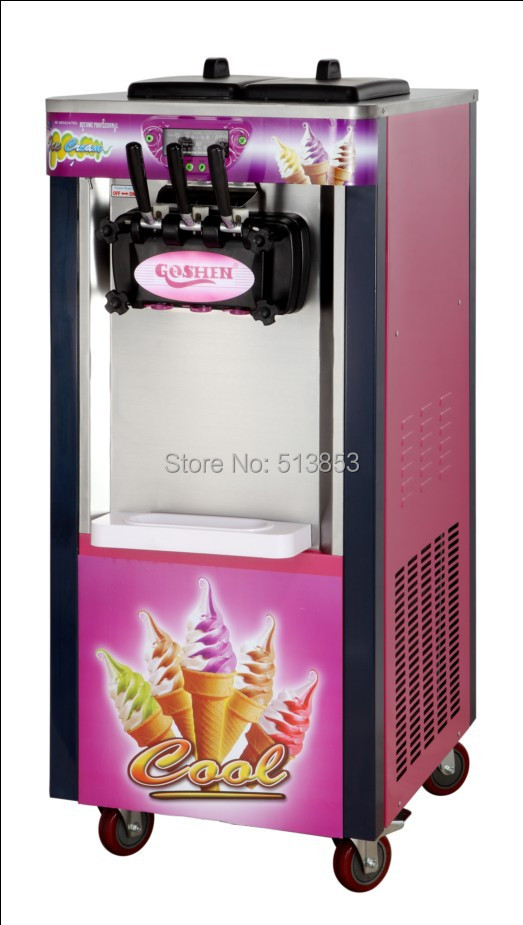 20L /h Hottest 3-color soft ice cream machine, manufacturer icecream maker machine