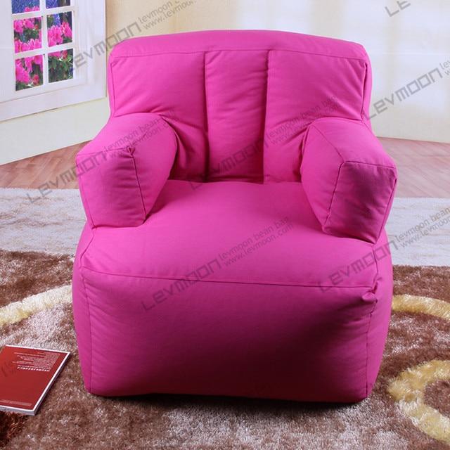 FREE SHIPPING red bean bag chair 100% cotton canvas bean bag chair ...