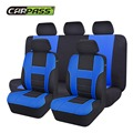 Car-pass Brand New Styling Front Rear Car Seat Covers Universal 9 Pieces/Set Blue Red Beige Cute Pink Seat Covers Set Car-covers