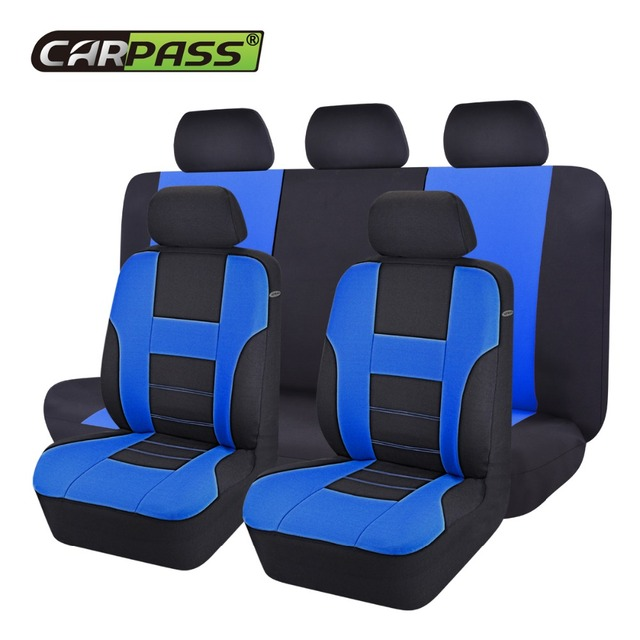 Car Pass Brand New Styling Front Rear Seat Covers Universal 9 Pieces Set