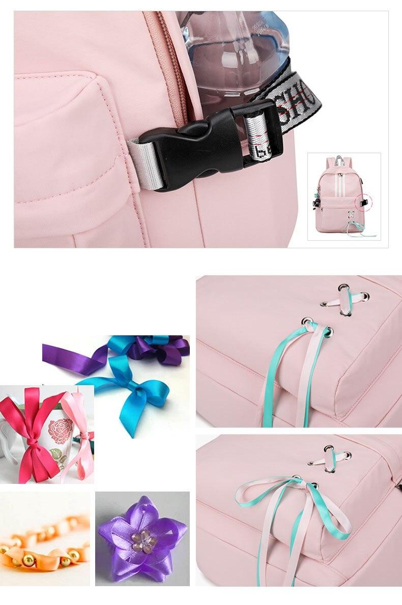 Tourya Fashion Anti Theft Reflective Waterproof Women Backpack USB Charge School Bags For Girls Travel Laptop Rucksack Bookbags