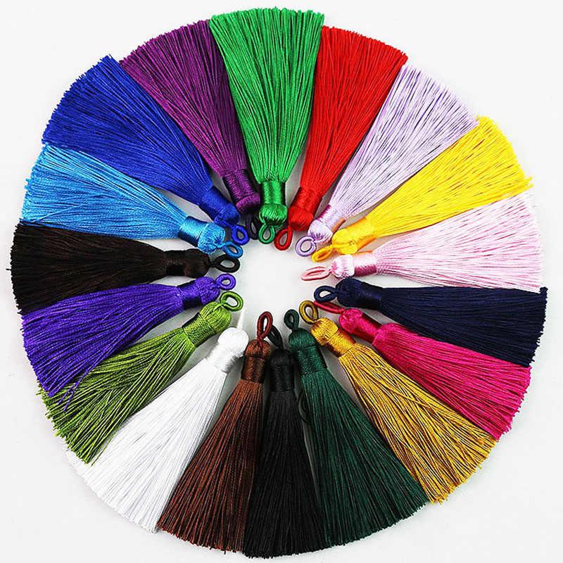 25 cores 2018 nova chegada de alta qualidade venda quente 1 pc artesanal único bonito seda borla casamento jóias acessórios