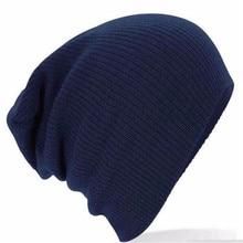 Hot Sale Men Women New Winter Caps Solid Color Hat Unisex Soft Warm Plain Knit Beanie Skull Cap Fashion Unisex Accessory Gifts
