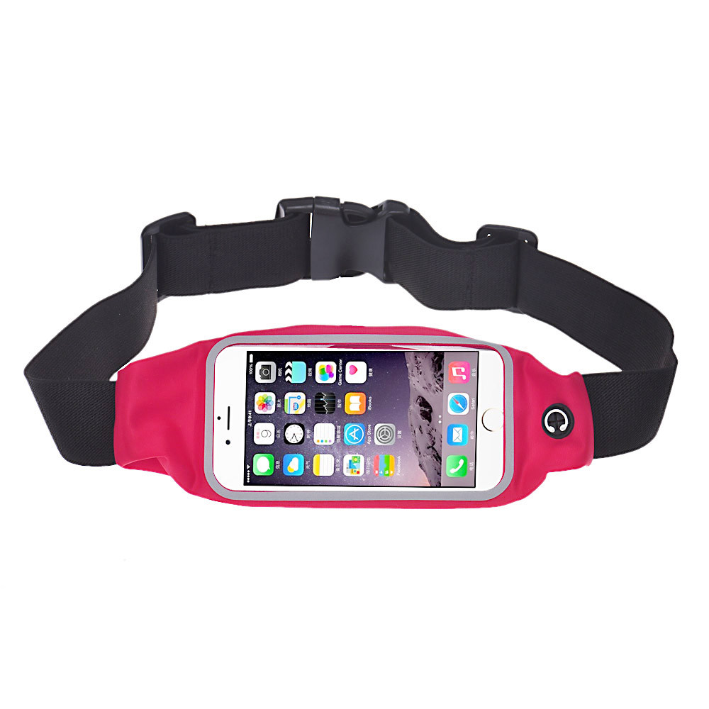 Running Bags Waterproof Black Green Red Sports Running Gym Waist Belt Bag Case Cover For Iphone 6 Plus 5.5 Sports Bag F230