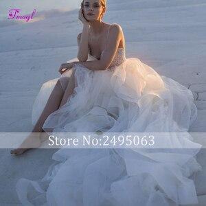 Fmogl Новое роскошное обшитое бисером вырез сердечком ТРАПЕЦИЕВИДНОЕ свадебное платье 2020 изящное свадебное платье принцессы из присборенной...