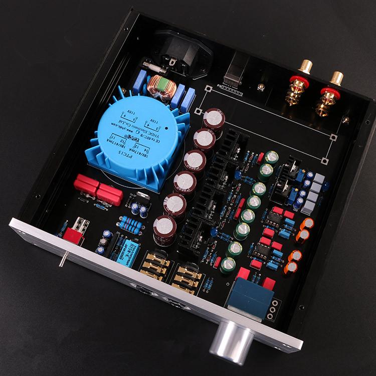 Prix pour Nouveau HiFi A2-PRO Professionnel Casque Amplificateur DIY Kit Se Référer Beyerdynamic A2 AMP Avec châssis en aluminium