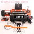 Lier auto 12v 13500lb Elektrische Lier Zware ATV Trailer hoge treksterkte stalen kabel Afstandsbediening Set Elektrische Lier