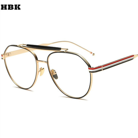 f64eef12f7c4 New Luxury Brand Design Sunglass Gold Glasses Optics Frame Clear Vintage Sunglass  Women Men Optical UV400 ...