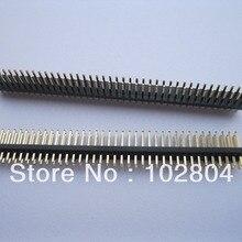 10 шт. Позолоченные 1,27 мм магистрали с отламывамыми выводами 2x40 80pin мужские двухрядные полосы