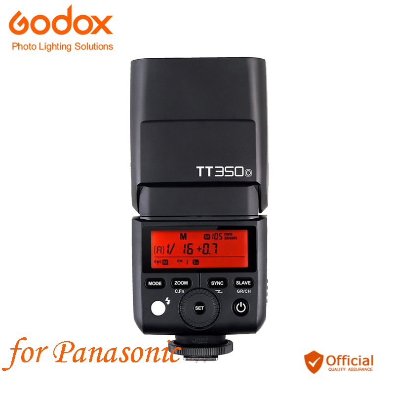 Godox TT350O Mini 2.4G Wireless Speedlite Camera Flash TTL HSS 1/8000S for Panasonic DMC-CX85 DMC-G7 DMC-GF1 DMC-LX100 DMC-G85 faro dmc 420 white