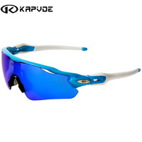 2017 Kapvoe Polarized EV Cycling SunGlasses MTB Mountain Bike Goggles 5 Lens Cycling Eyewear Bicycle Sunglasses