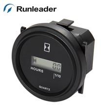 Runleader lcd 999999 сброс круглый счетчик часов переменного тока 86-230 В счетчик часов для автомобиля, грузовика, вилочного погрузчика, чистый фургон, двигатель переменного тока