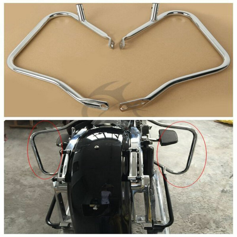 motorcycle 7 8 quot Saddlebag Guard Crash Bars Bracket For Harley Touring Road King Street Road Glide FLHX FLTR 2014 2018 motorbag