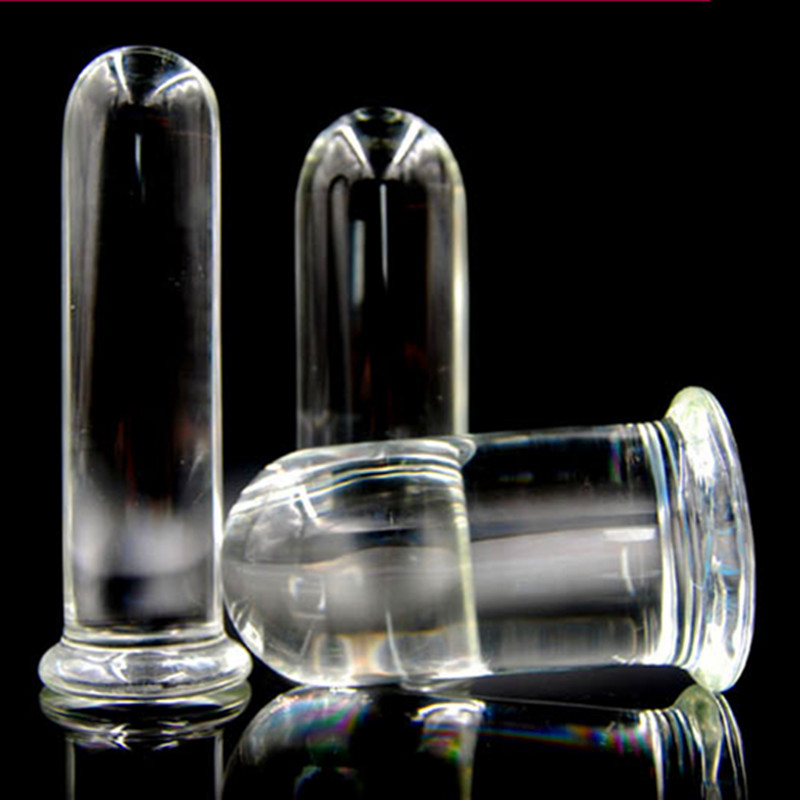 Big Size Transparent Crystal Glass Anal Plug Vagina Plug Butt Plug Sex Toys Products for Women and Men H8-3-5 7 87 5 5inch super big size silicone anal plug toys large butt plug sucker booty beads sex products for men and women