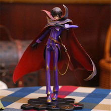 Retail 23cm Anime Code Geass R2 Lelouch Action Figure Toys The Most Popular Lamperouge ZERO PVC Crafts Collection Doll Free Ship