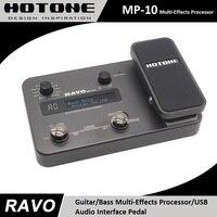 Hotone RAVO MP-10 Guitar/Bass Multi-Effects Processor / USB Audio Interface, Integrated Drum Machine, 30 Seconds of Looper