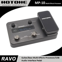 Hotone RAVO MP 10 Guitar Bass Multi Effects Processor USB Audio Interface Pedal