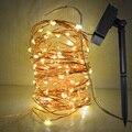100LED Luz Solar de La Secuencia Del Bulbo 8 Función de Actualización de Alambre de Cobre A Prueba de agua Para Al Aire Libre de La Boda la Fiesta de Navidad