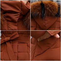 X-Long 2019 New Arrival Fashion Slim Women Winter Jacket Cotton Padded Warm Thicken Ladies Coat Long Coats Parka Womens Jackets 6